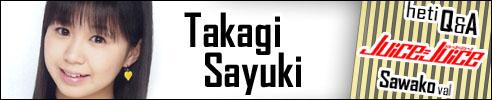 Takagi Sayuki - Juice=Juice Q&A