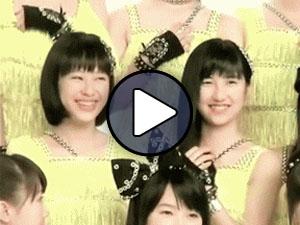 Oda Sakura és Sato Masaki a Morning Musume 'Kimi sae ireba nani mo iranai' című klipjének jacket fotózásán