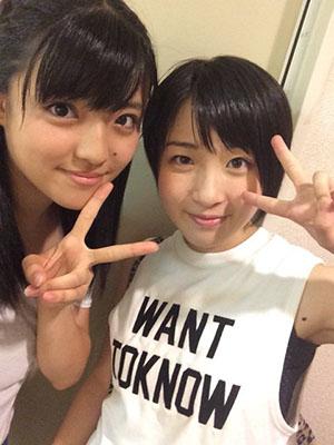 Suzuki Kanon (Morning Musume) és Fujii Rio (Kobushi Factory)
