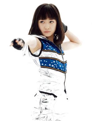 Kudou Haruka (Morning Musume) a Renai Hunter tánca közben.